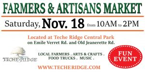 Winter 2017 Farmers and Artisans Market @ Teche Ridge Master Planned Community | New Iberia | Louisiana | United States