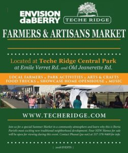 2018 Farmers & Artisans Market @ Teche Ridge Master Planned Community | New Iberia | Louisiana | United States