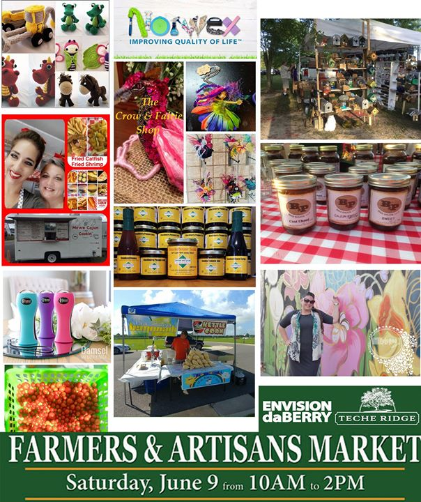 Just about a week away to the June 9th DaBerry Farmers Market at Teche Ridge. 45…