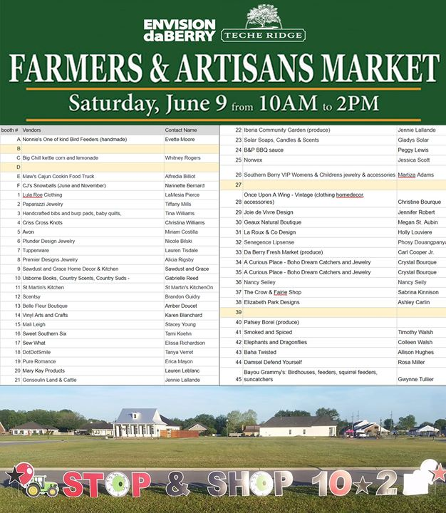 Stop by the Iberia Medical Center Information Tent during the DaBerry Farmers Ma…