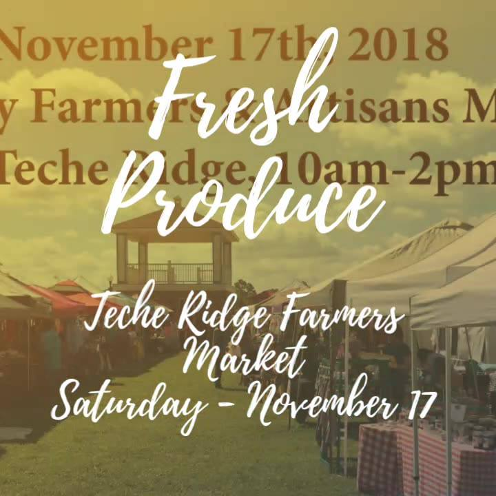 Fresh Produce DaBerry Farmers and Artisans Market At Teche Ridge!