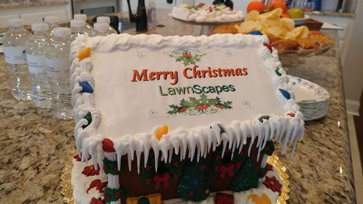 Thank-you Lawnscapes for the delicious gingerbread house and beautiful poinsetti…