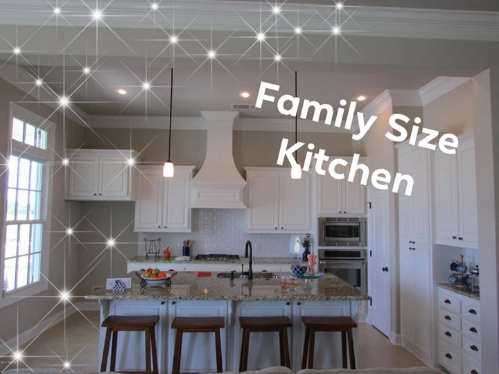 Kitchen big enough for a family, high ceilings, plenty of storage and windows ev…